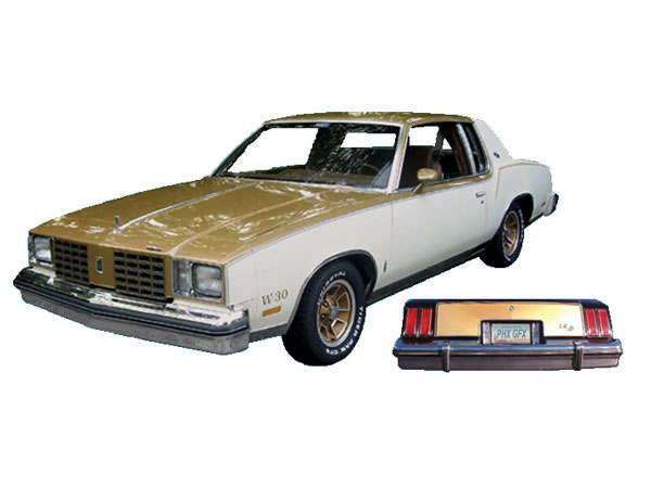1980 Hurst Olds Stripe And Decal Kit Gold W White For
