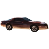 1985-1987 Camaro IROC-Z Decal Kit with Roll Stripes, Gold