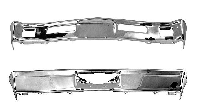 71 72 Chevelle El Camino New Triple Plated Front Bumper