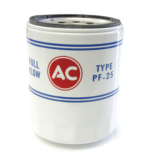 1967-1981 Camaro PF-25 AC Oil Canister Filter White