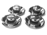 1964-1972 Chevrolet Rally Wheel Turbine Style Cap Kit, Chevrolet Motor Division