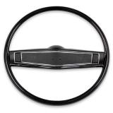 1969-1970 Chevelle Standard Steering Wheel Kit Black Fine Grain