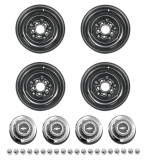 1966 Chevelle Steel COPO Wheel Kit 15 x 7