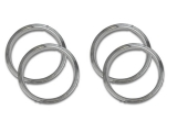 1971-1972 El Camino Super Sport 5 Spoke Trim Rings Kit