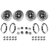 1969-1970 Chevelle Wheel Vintiques Super Sport Wheel Kit 15 X 7