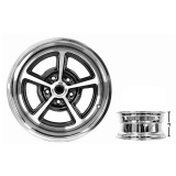 17 x 8 Inch SS Magnum Alloy Wheel Zero Offset
