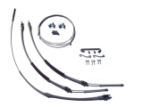 1968-1972 Chevelle Parking Brake Cable Super Kit, Without TH400, Stainless Steel