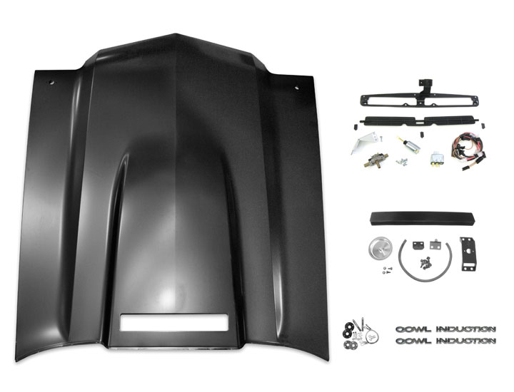 this is the perfect kit for converting your chevelle malibu flat hood or ss  domed hood to a functional cowl induction hood and offers a great savings  over