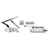 1965-1967 Chevelle Billet Hood Hinge Pair w/ Heavy Duty Struts & Hardware