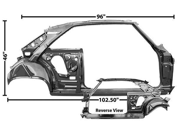 This is a complete Nova quarter panel and door frame assembly. This massive piece of sheet metal includes the entire inner quarter panel and door structure ...  sc 1 st  SS396.com & 1966-1967 Nova Quarter Panel And Door Frame Assembly Right Side
