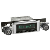 1971-1972 Chevelle RetroSound Hermosa Radio Kit, Black Face