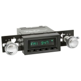 1973-1977 Chevelle RetroSound Hermosa Radio Kit, Black Face, Black Bezel