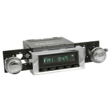 1973-1977 Chevelle RetroSound Hermosa Radio Kit, Black Face, Chrome Bezel