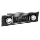 1967-1968 Camaro RetroSound Hermosa Radio Kit, Black Face, Chrome Nose, Din Repair
