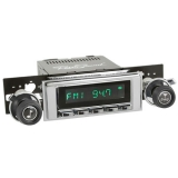 1971-1972 Chevelle RetroSound Hermosa Radio Kit, Chrome Face