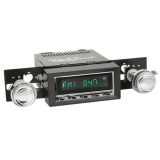 1973-1977 Chevelle RetroSound Hermosa Radio Kit, Chrome Face, Black Bezel