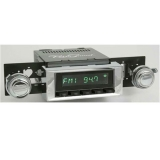 1968-1979 Nova RetroSound Laguna Radio Kit, Black Face Chrome Bezel