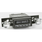 1973-1977 El Camino RetroSound Long Beach Radio Kit, Chrome Face Black Bezel