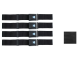 Non-Retractable GM Plastic Push Button Seat Belts