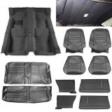 1967 Chevelle Coupe Super Interior Kit For Bucket Seats, Black