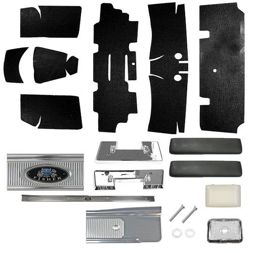 1964 El Camino Super Interior Kit For Bench Seats Black