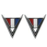 1964 El Camino Cross Flag Fender Emblems