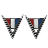1964 Chevelle Cross Flag Fender Emblems