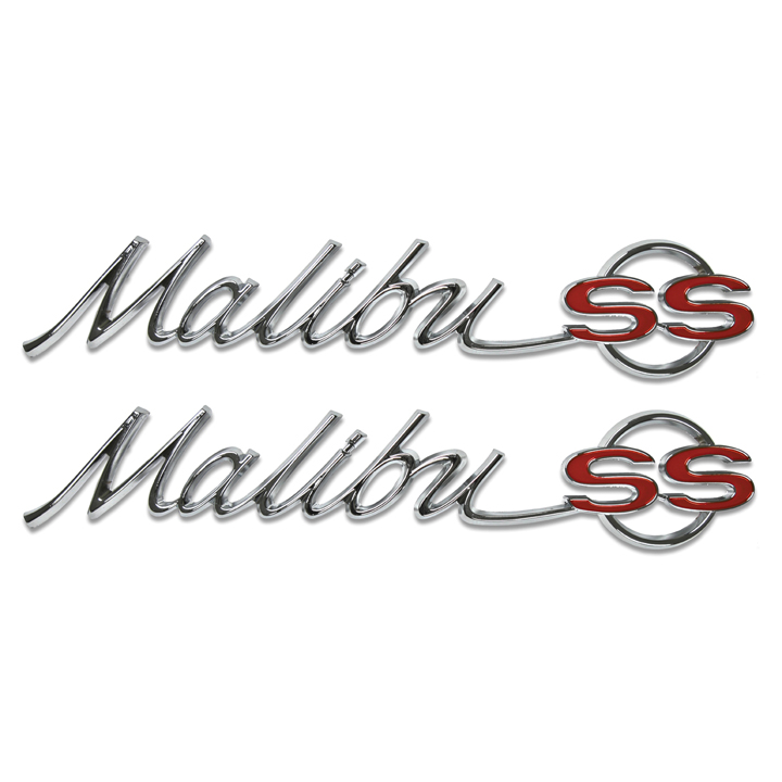 1965 chevrolet malibu ss quarter panel emblems