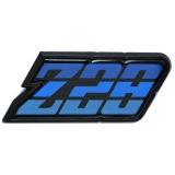 1980-1981 Camaro Z/28 Fuel Door Emblem Blue