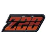 1980-1981 Camaro Z/28 Fuel Door Emblem Red