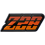 1980-1981 Camaro Z/28 Fuel Door Emblem Orange