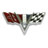1965-1967 El Camino Cross Flag Fender Emblem