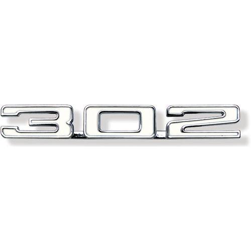 1969 Camaro 302 Hood Emblem