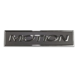Universal Baldwin Motion Chrome Emblem