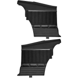 1968 - 1969 Chevrolet TMI Sport XR Rear Door Panels, Black with Red Stitch, Stainless Grommet