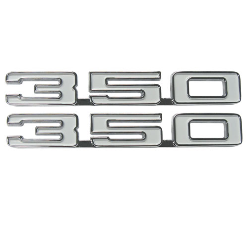 1968 Camaro 350 Fender Emblems