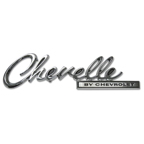 1969 Chevelle By Chevrolet Trunk Emblem