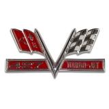 1965-1967 Chevelle 427 Turbo Jet Flags Fender Emblem