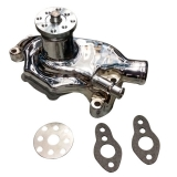 1964-1968 Chevelle Small Block Super Cool Short Water Pump, Chrome