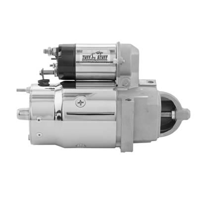 Chevy V8 Full Size Starter, 1.9 H.P. Offset Bolts, Automatic, Chrome: 3510A