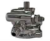 Tuff Stuff Universal GM Type II Power Steering Pump, Black Chrome, AN Fittings, Thread Mounting
