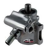 Tuff Stuff Universal GM Type II Power Steering Pump, Black Chrome, AN Fittings, Through Hole Mounting