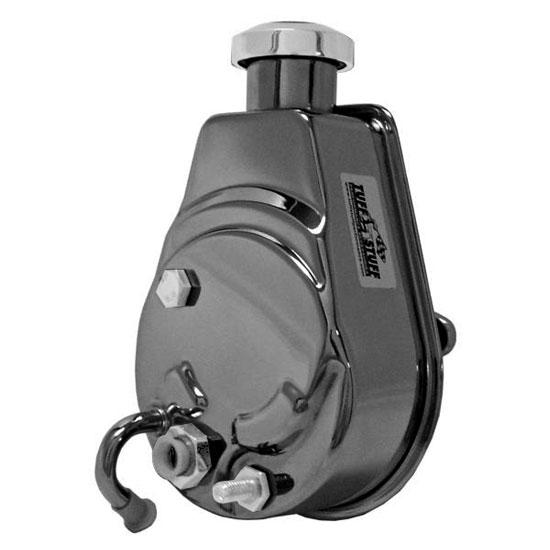Tuff Stuff Saginaw Style Power Steering Pump, Universal, Black Chrome, 1200 PSI: 6176A7