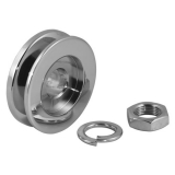 Chevy Chrome Alternator Pulley, Single Groove: 7610E