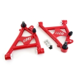 1982-1992 Camaro UMI Front Lower A-Arms, Delrin Bushings, Coilovers Only - Red: 2052-R