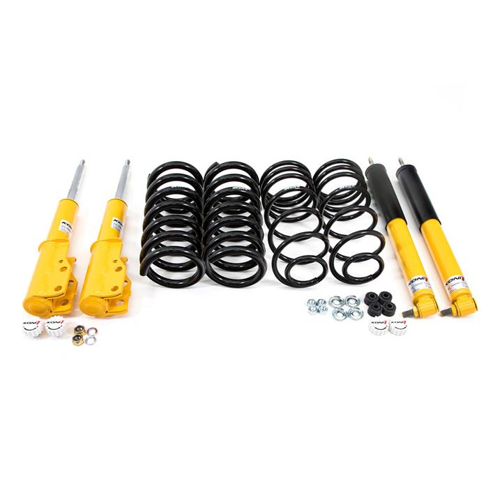 1982-1992 Camaro UMI Koni Yellow Sport Shock And Drop Spring Kit On Car Adjustable: 207305