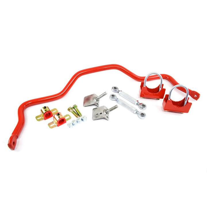 1982-2002 Camaro UMI Rear Drag Sway Bar, 3 Inch Axle Tubes, Red: 2245-300-R