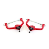 1970-1981 Camaro UMI Front Upper Control Arms, Delrin Bushings, Red