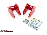 UMI 1978-1988 Monte Carlo Bolt In Rear Lower Control Arm Relocation Kit, Red: 3018-R