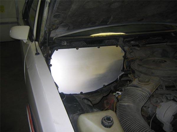 1978 1988 Gm G Body Heater Box Delete Panel Black